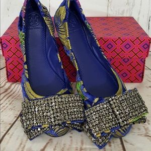 🆕 Tory Burch Embellished Bow Ballet Flats